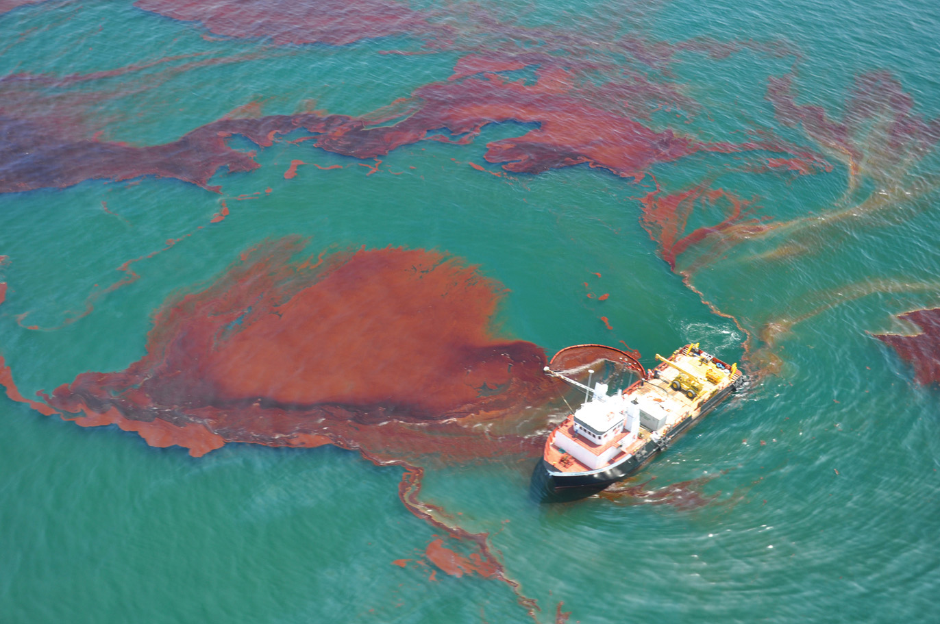 Oil spill representational photo